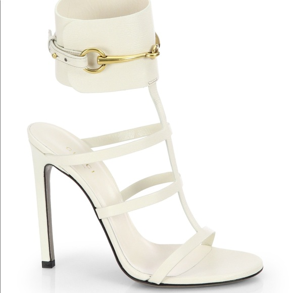 bcaded174a85 Gucci Shoes - Gucci Ursula Caged Off-White Sandal Heel Leather